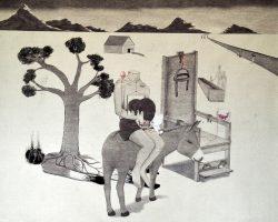 Syahbandi Samat - Beautiful Torture I (2019) - Ballpoint Pen and White Pencil on Canvas - 175 x 201 cm