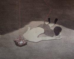 Syahbandi Samat - Ego dan Nafsu (2019) - Ballpoint Pen and White Pencil on Canvas - 146 x 171 cm