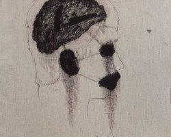 Syahbandi Samat - Hitam (2019) - Ballpoint Pen on Canvas - 56 x 33 cm
