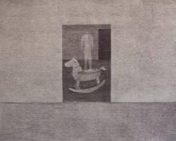 Syahbandi Samat - Pemerhati (2019) - Ballpoint Pen on Canvas - 54 x 70 cm
