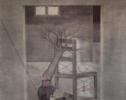 Syahbandi Samat - Sunyi (2019) - Ballpoint Pen on Canvas - 171 x 143 cm
