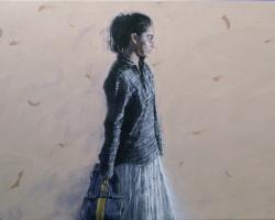 Hazri Shairozi - Perjalanan Yang Memakan Usia 1 (2019) - Acrylic on Linen - 61 x 122 cm