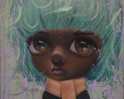 Laksamana Ryo - The Beauty (2020) - Oil and Acrylic on Canvas - 60 x 45 cm