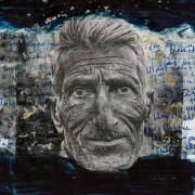 Rahman-Roslan - Menerima Segala Dalam Redha (2015) - Mixed Media on Paper - 17 x 16 cm (37 x 37 cm w/ frame)