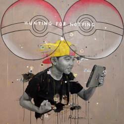 Ruzzeki Harris - Hunting-For-Nothing (2016) - Oil & Spray Paint on Canvas - 130 x 130 cm