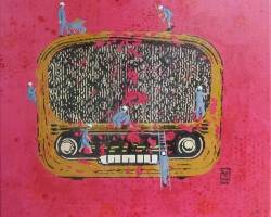 Shaarim-Sahat-Media-1-Break-Down-61-x-61-cm-Mixed-Media-on-Canvas-2014