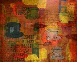Didi Kasi - Cangkir (Minum Pagi) (2008)- 150 x 200 cm (diptych) - Oil on Canvas