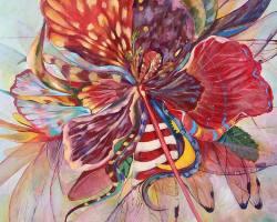 Annisa Tajul - Bunga Beraya (2019) - Acrylic on Canvas - 91.5 x 76 cm