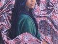Zaimuddin Aziz - Antara Personaliti dan Warna 2 (2015) - Oil on Batik - 152.5 x 915 cm
