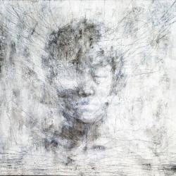 Yasmeen Cheong - Unsteady (2016) - Acrylic, Pencil & Charcoal on Canvas - 59 x 84 cm